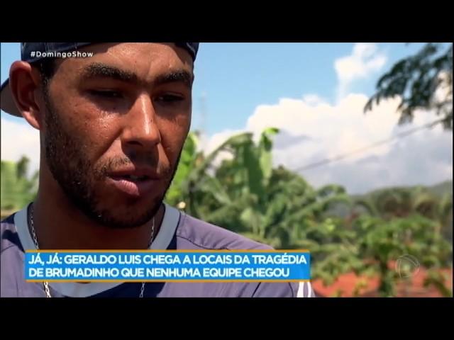 Voluntário deixa a dor de lado para ajudar outras pessoas em Brumadinho (MG)