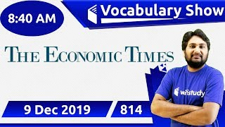 8:40 AM - The Economic Times Vocabulary with Tricks (9 Dec, 2019) | Day #814