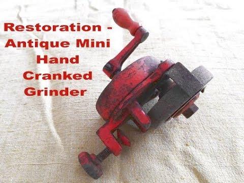 Restoration - Antique Mini Hand Cranked Grinder