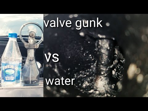 can you clean intake valves with water. decarbonize