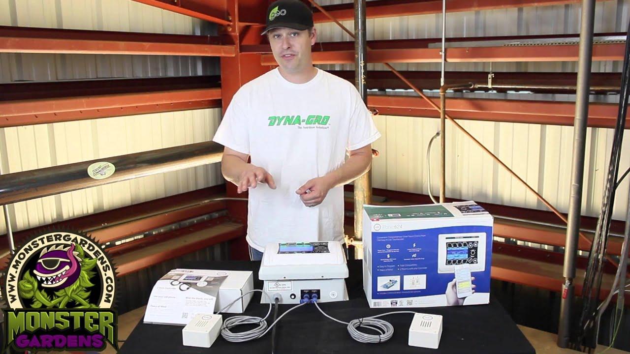 Iponic 624 Dual Room Controller   Automate Indoor Garden   Phone Garden  Control