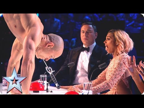 Alex Magala takes our breath away with chainsaw stunt | Grand Final | Britain's Got Talent 2016