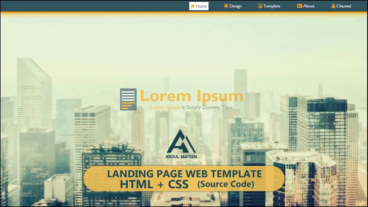HTML + CSS | Landing Page Template | Source Code FREE* - YouTube