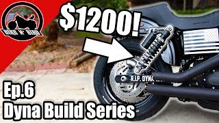 Harley Dyna Build Series Ep.6 - Rear Suspension & Shift Linkage