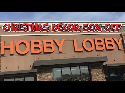 HOBBY LOBBY 50% OFF//CHRISTMAS DECOR🎄🎄//DIY PROJECTS//YARD SALE FINDS//GARAGE SALE