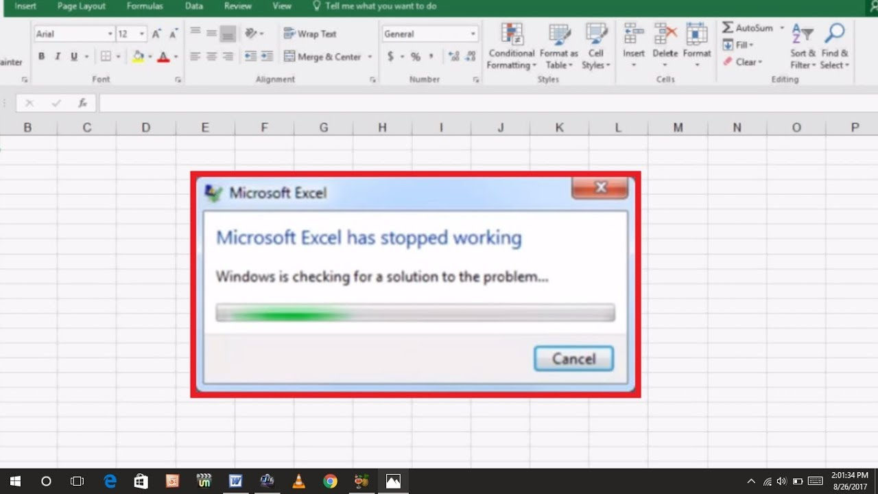 How to Fix Microsoft Excel Has Stopped Working Error in Windows 10 PC