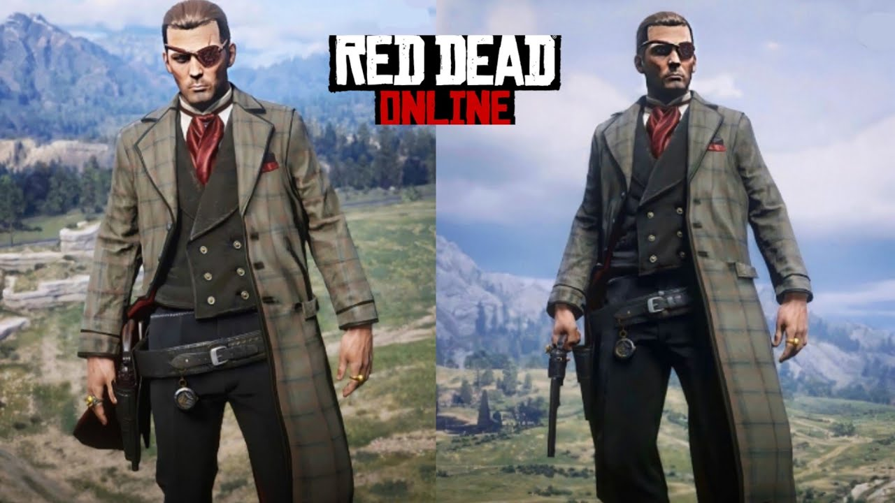 Red Dead Online cool outfit black and red !!! - YouTube