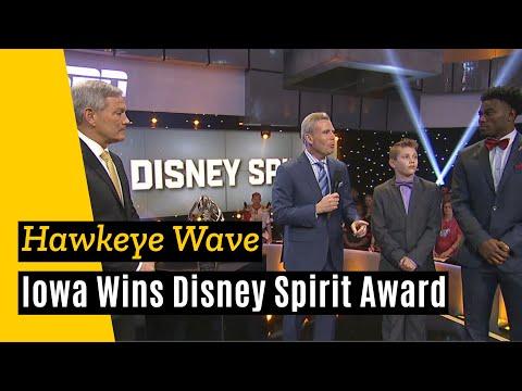 "Iowa accepts Disney Spirit Award for ""The Wave"""