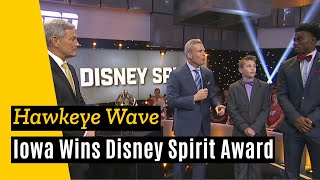 "Iowa accepts Disney Spirit Award for ""The Wave"""