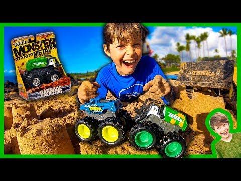 New Tonka Monster Trucks Arena at the Beach!