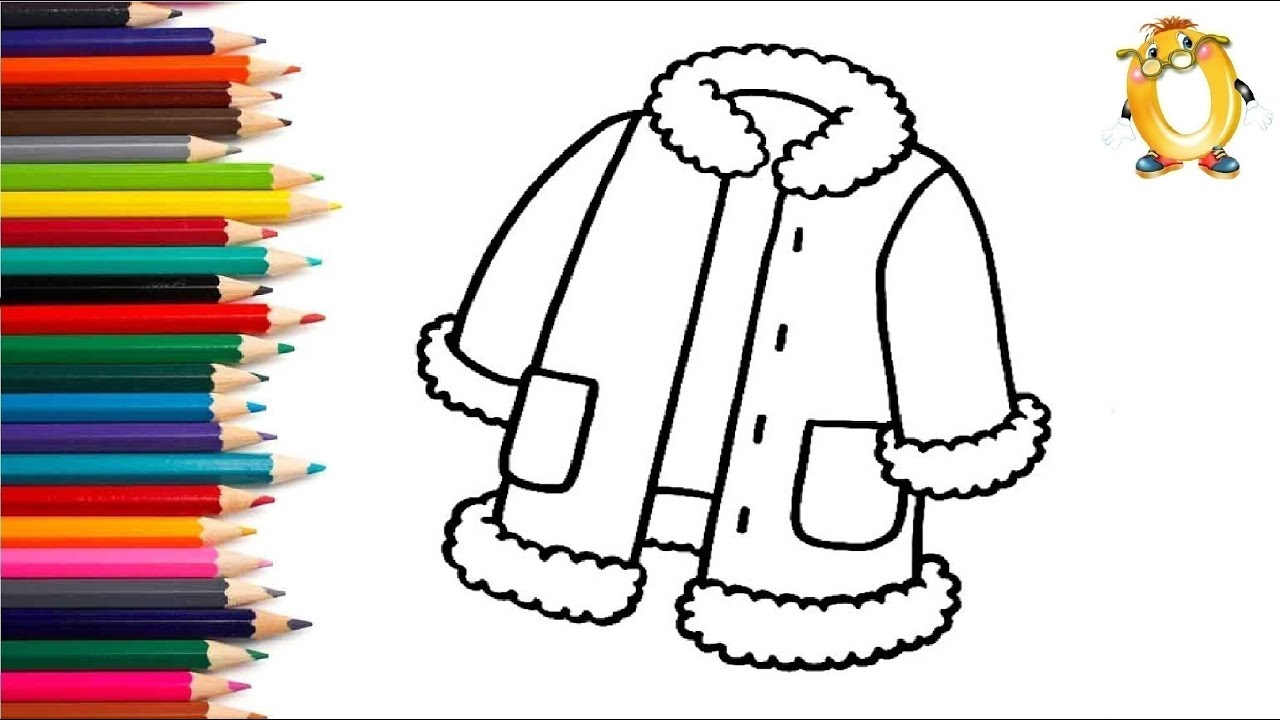 Раскраска для детей ШУБКА. Мультик - Раскраска. Учим цвета ...
