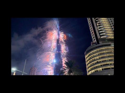 Welcoming New Year 2021 with Fireworks at Burj Khalifa UAE | Exploring Burj Khalifa 126th Floor |