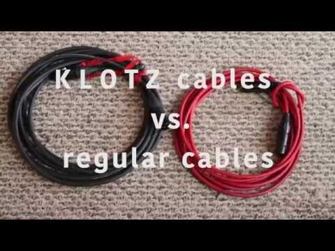 KLOTZ AIS TITANIUM Cables vs. regular cables
