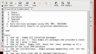 Redhat Enterprise linux 5 RPM Package Management Part3   YouTube
