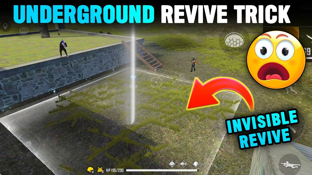 TOP 5 UNSEEN TRICKS IN FREE FIRE 🤯   BECOME INVISIBLE & REVIVE - Garena Free Fire