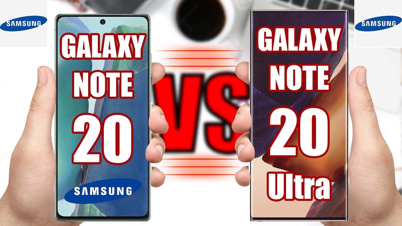 Samsung Galaxy Note 20 vs Samsung Galaxy Note 20 Ultra