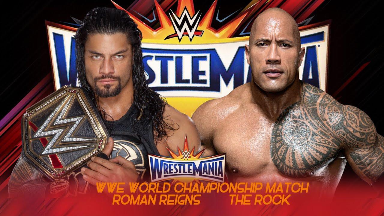 roman reigns vs the rock wrestlemania 33 promo hd youtube
