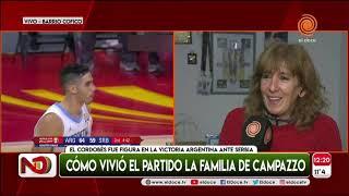 La emoción de la mamá de Facu Campazzo tras el partido ante Serbia