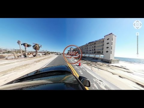 Mexico Beach on 10/13/2018 at 3:00pm after Hurricane Michael 360 view