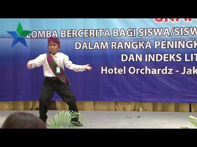 Juara Harapan II  Ahamd Tobhroni H. : Lomba Bercerita Bagi Siswa SD/MI Tingkat Nasional 2018
