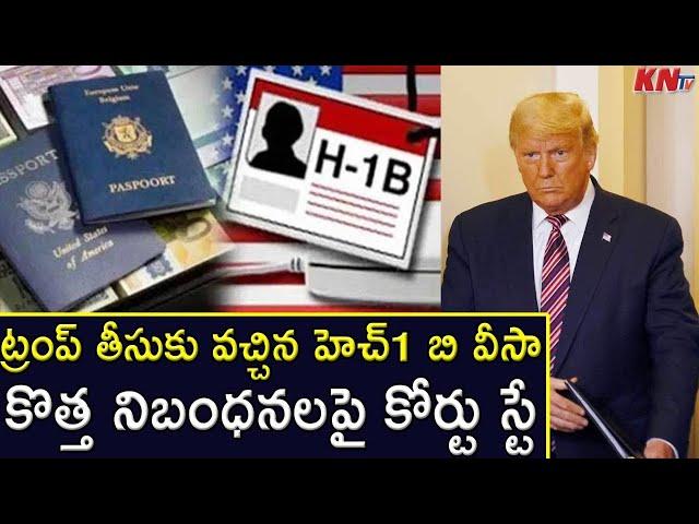 ట్రంప్ తీసుకువచ్చిన హెచ్ 1 బి వీసా కొత్త నిబంధనలపై కోర్ట్ స్టే..|| America H1-B Visa New Update