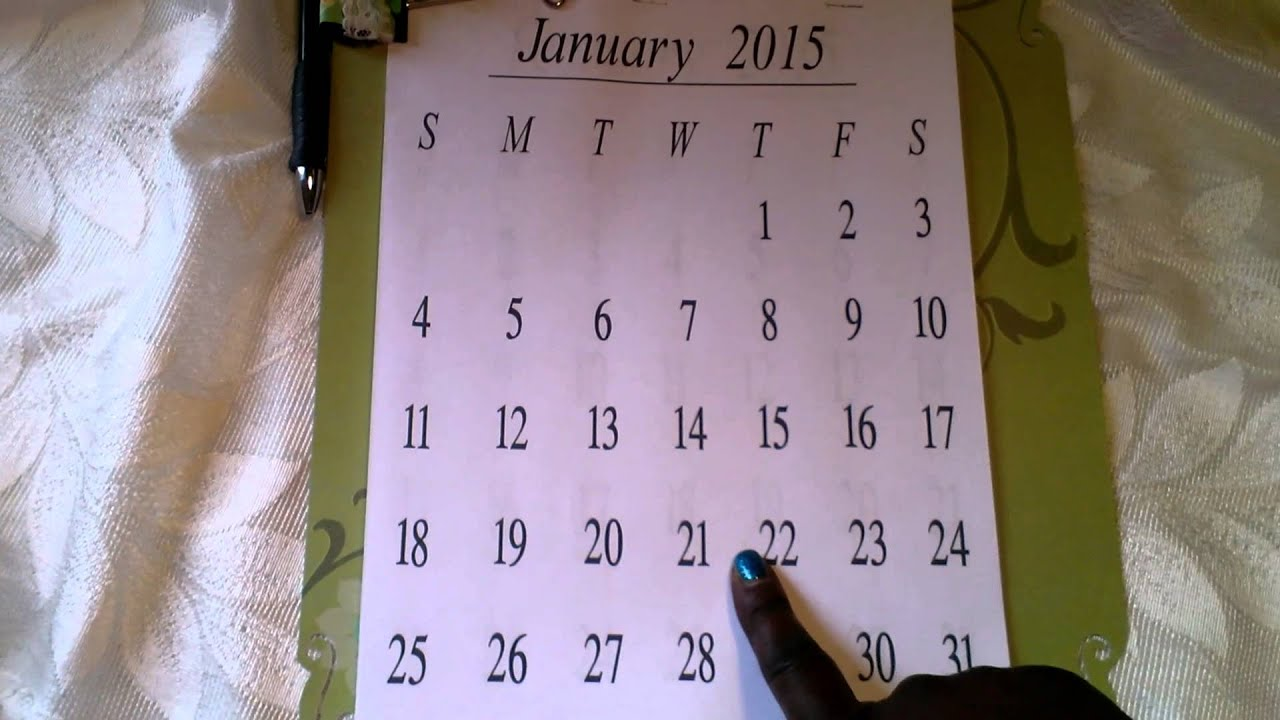 Homemade Calendars With Photos : Homemade wall calendar youtube