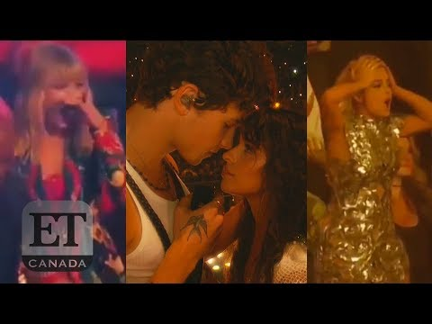 Taylor Swift Jonas Bros React To Shawn Mendes Camila Cabello's 'Senorita' Performance