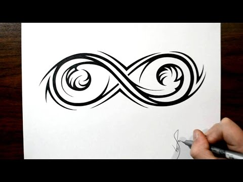 Drawing an Elaborate Infinity Symbol – Tribal Tattoo Design Style
