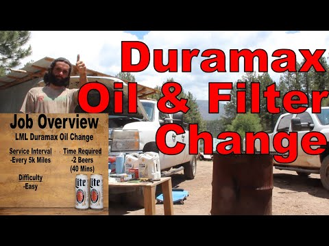 How To Change Oil Lml Duramax Diesel And Oil Filter Step By Step Youtube