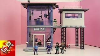 Playmobil 摩比游戏 5182 警察局中心 带 电子报警器 装置 套装 开箱 展示