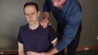 Chiropractic Treatment - Spinal and Shoulder Adjustment On CrossFit Coach | Radicular Shoulder Pain