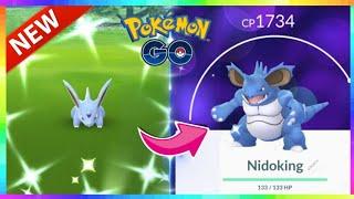 NEW SHINY MALE NIDORAN & SHINY NIDOKING in Pokemon Go! NEW SHINY RELEASE