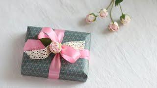 발렌타인데이를 위한 초콜릿 선물포장02   페레로로쉐 심플하게 포장하는법 Chocolate Gift Wrapping - Simple packaging with lace