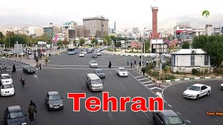 Traveling Iran Tehran City Middle East Azadi Square Road View 2019