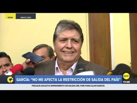 Alan García dice que se está haciendo una persecución política en su contra