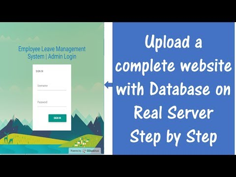 how-to-upload-complete-website-with-database-on-real-server
