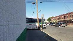 El Paso-Los Angeles limousine express MCI 102DL3 #360 departing downtown El Paso TX