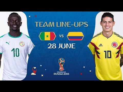 LINEUPS – SENEGAL V COLOMBIA - MATCH 48 @ 2018 FIFA World Cup™