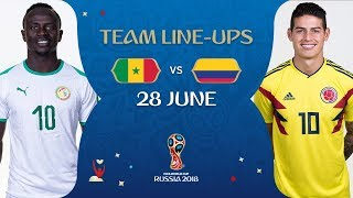 lineups  senegal v colombia - match 48  2018 fifa world cup