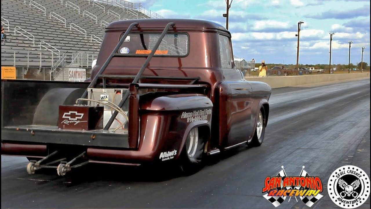 1955 chevrolet pro street truck youtube - Trent Willson Radical Classic Drag Racing Chevy Truck San Antonio Raceway Youtube