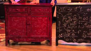 Scroll Cupboard W/ Two Drawers And Two Doors By Valerie With Mary Beth Roe