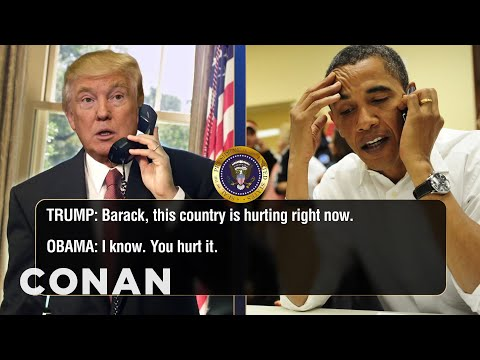 Trump Calls Obama To Talk About Charlottesville & Twitter  - CONAN on TBS