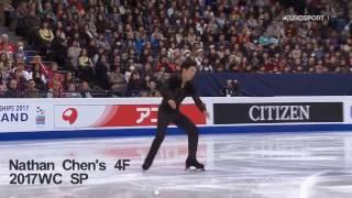 Nathan Chen's Quad Flip vs Shoma Uno's Quad Flip (Cheats take-off)