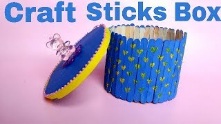 DIY Box from-Ice Cream Sticks || Organizer || Popsicle Sticks Box || The Blue Sea Art
