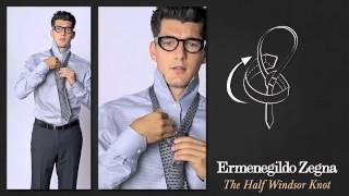 Как завязывать галстук Полувиндзорским узлом
