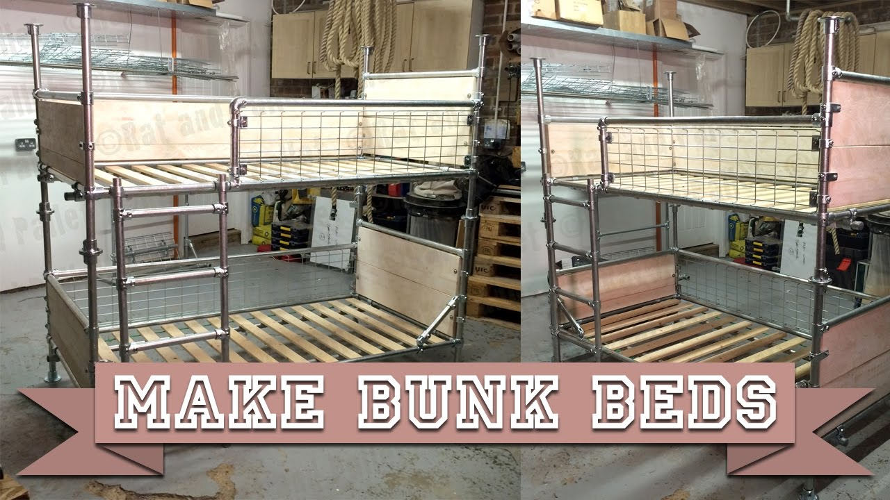 Make Diy Bunk Beds Or Single Platform Bed From Kee Klamp
