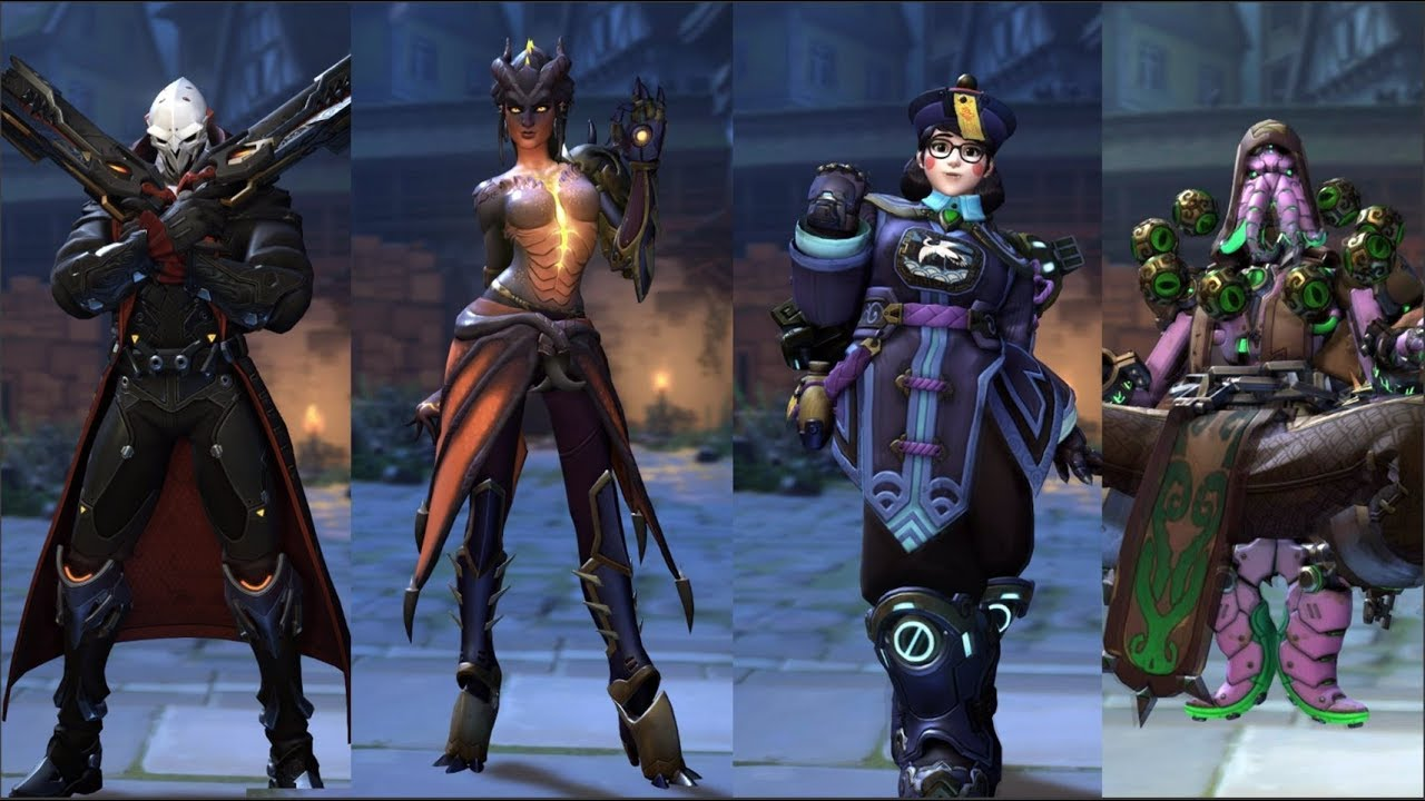 overwatch halloween 2017 skins, highlight intros, emotes, victory
