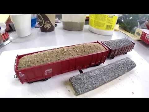 Загрузка вагонов песком, щебнем, грунтом#МАСШТАБ 1:87