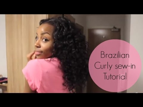 Brazilian Curly Sew In Weave Nicolle S Boutique Youtube