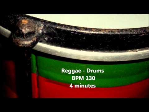 Reggae-Drums, BPM130, 4minutes,Rhythm Free Sample